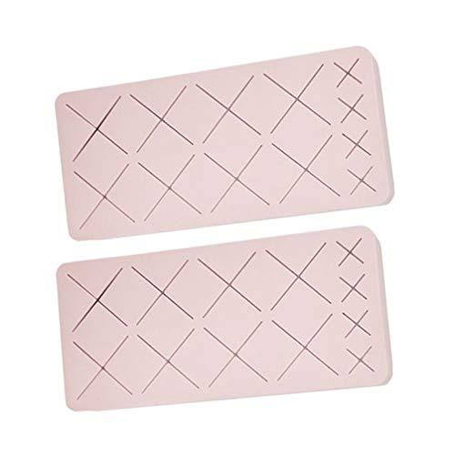 Minkissy Organisateurs de Maquillage en Silicone Stockages Cosmétiques Portables Vitrines de Beauté pour Rouges à Lèvres Brosses Bouteilles de Vernis à Ongles 2Pcs (Rose)