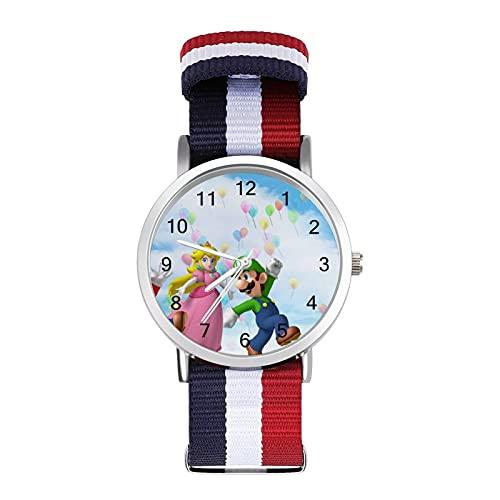 Los relojes Mario son impermeables, versátiles, informales, estudiantes, hombres y mujeres, deportes, moda y temperamento simple anime dibujos animados