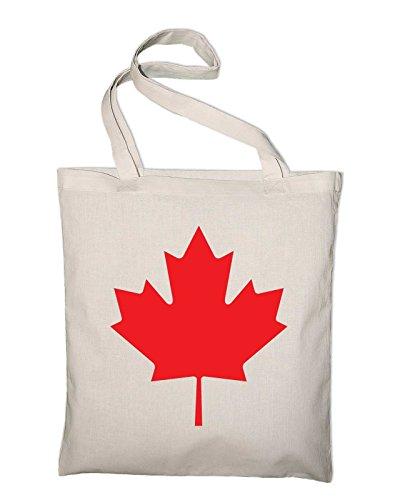Styletex23 Kanada Canada Maple Leaf Jutebeutel Baumwolltasche, natur