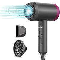 asciugacapelli professionali 1800w ioni phon per capelli asciugacapelli portatile leggero con concentratore e diffusore 3 velocità di calore velocità infinita asciugacapelli da viaggio a basso rumore