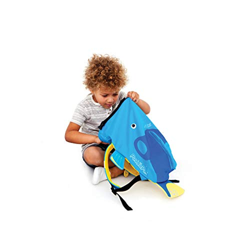 Trunki PaddlePak - Mochila infantil impermeable para piscina y gimnasio, Azul, 37 x 29 x 17 cm