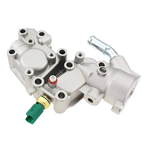 LinYom Termostato Carcasa Aluminio Frena De Agua Brida/Ajuste para -Citroen/Bx C15 C3 MK/FIT FOR - Peugeot / 1007 205 206 1336.Y8 9654775080 (Color : with Sensor)