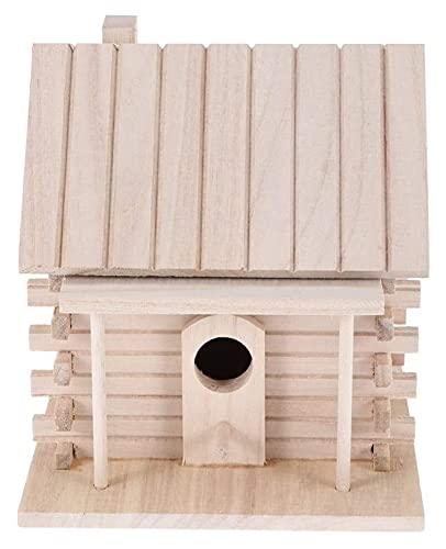 M3 Decorium Wooden Bird Nest Warm Breeding Box DIY Breeding Parrot Cockatiels Swallows Nest Outdoor Budgerigar Mynah Bird Cage (Size : 18x16x17cm)