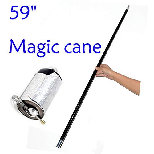 """WSNMING 59"""" Magician Metal Appearing Cane with Free Gloves and Video Tutorial Stage Close-up Magic Tricks"""