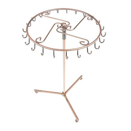 Rotierenden Kupferfarbe Metallhalsketten-Armbandhalter Schmuckständer
