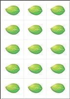 メッセージウェルカムボード用追加シール リーフピース(葉っぱ)1シート15枚