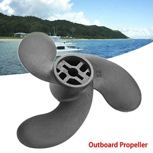 Dogggy Außenborder Propeller 3.5 PS Nissan 2.5 3.5 PS Quecksilber 3.5 PS Marine Boot Außenborder Propeller schwarz 1 Stück