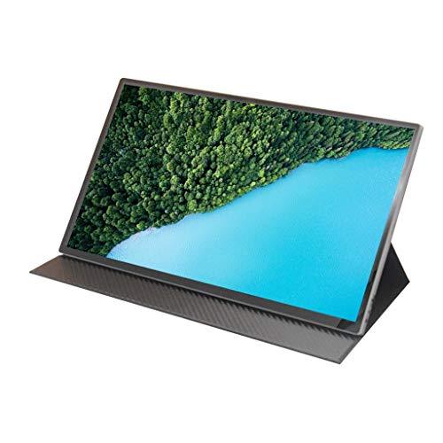 ZWB Monitor portátil de 15,6 Pulgadas USB 4K, IPS, Cuidado de los Ojos, Altavoces duales, Monitor de Juegos con Mini HDMI Tipo C para Ordenador portátil, teléfono PS4 (Color : 15.6in-4K)