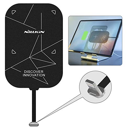 Nillkin Qi Wireless Charger Receiver for ipad - 0.7mm Ultra Thin Magic Tag Plus, 2000mAH Fast Charging Qi Coil for ipad Air 3, ipad 8th/7th/6th/5th Generation, ipad pro 10.5 - Lightning Long