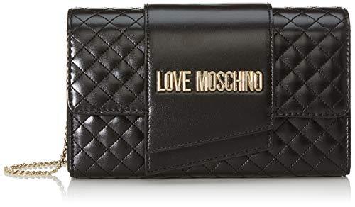 Love Moschino Damen Borsa Quilted Nappa Pu Clutch, Schwarz (Nero), 13x23x6 Centimeters