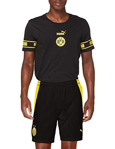PUMA Herren BVB Shorts Replica Black-Cyber Yellow, M