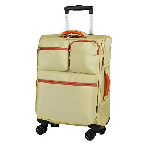 MOIERG(モアエルグ)ソフトキャリーバッグ 機内持ち込み可 スーツケース キャリーバッグ[71-22000-23] (S, ベージュ)