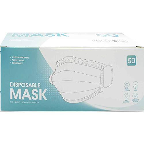 Ivrou Mund- und Nasenmaske - effizienter Schutz für Ihre Gesundheit - Inhalt 50 Stk Blau