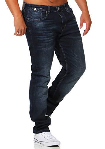 M.O.D Herren Hose Jeans Joshua Modern Schmales Bein Dark Night 34/34