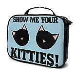 Bolsa de aseo con diseño de gato negro con asa superior