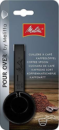 Melitta Kaffeedosierlöffel mit Mengenmarkierungen, Für 8, 10 oder 12 g, Kunststoff, Schwarz, 217618