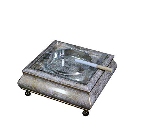 XiYou Cenicero Caja de Puros, Humidor Madera Sala de Estar nórdica Cenicero de Cristal para el hogar Cigarro Mesa de Centro Creativa Grande Escritorio de Arte Regalo