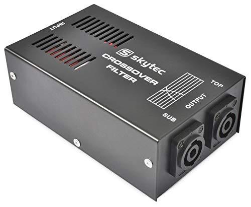 Skytec STP-1 passive Frequenzweiche Bassregler Subwooferweiche mit 1000W Eingangsleistung (1xPA Subwoofer-Out, 1xPA Satelliten-Out, 180Hz Trennfrequenz)