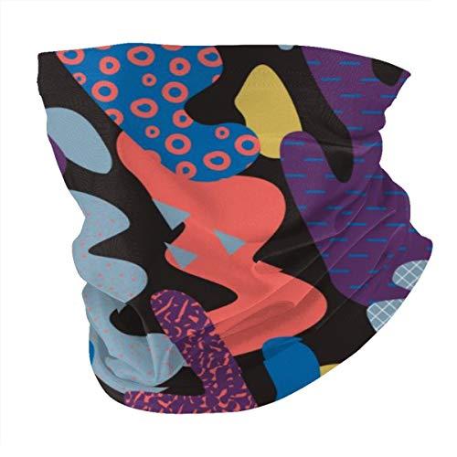 Angelo Gunter Headwear Abstract Memphis Style Seamless Pattern Headbands for Men and Women for Running,Yoga and Bike Helmet Friendly