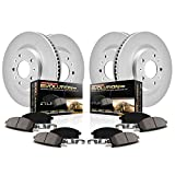 Power Stop CRK7606 Coated Brake Rotor and Ceramic Brake Pads- Front & Rear