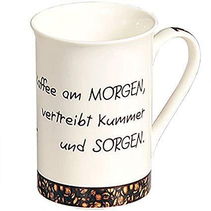 Kesper Tasse Kaffeeeule aus Porzellan, bunt, 9 x 9 x 14 cm