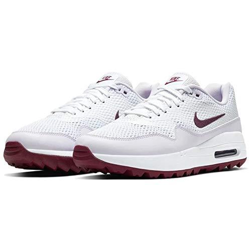 Nike Air Max 1 g, Scarpa da Passeggio Donna, White/Villain Red/Barely Grape, 38.5 EU