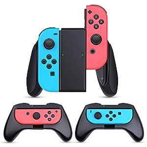 HEYSTOP Nintendo Switch JoyCon Grips 3 Piezas, Mando Joycon Grip Kit, Funda Protector Handle Kits para Mandos JoyCon Set de Nintendo Switch Controller