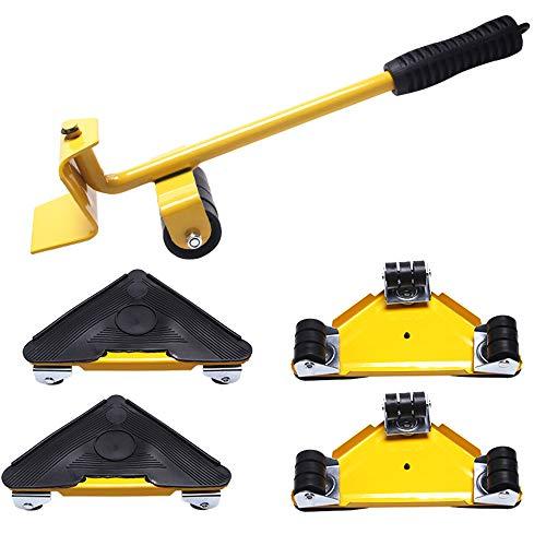 AMAZOM Mobile Möbelwerkzeuge Möbelheber Tragbares Schweres Hebegerät Möbel Bewegliches Gerät Mover Transport Set Für Zuhause Gelb