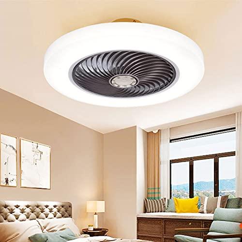 LKJHG Ventilador De Techo Interior Moderno LED, Lámpara De Techo Regulable De 3 Velocidades De Viento Ajustable Silenciosa con Control Remoto, Adecuado para Dormitorio, Estudio, Habitación para Niños