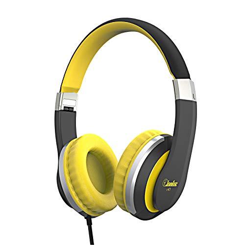 Elecder i41 Kids Headphones, Headphones for Kids Children Girls Boys Teens Foldable Adjustable On Ear Headphones with 3.5mm Jack for Cellphones Computer MP3/4 Kindle School(Yellow/Black)