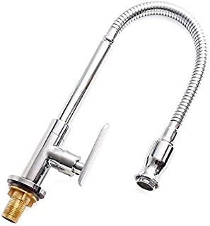 Single Lever Flexible Pull Out Kitchen water Tap Sink Faucet Single-tube cold water Basin Taps Vanity Vessel Faucets Deck Mount Chrome Finish