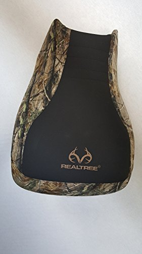 Hidden Comfort Camo Yamaha Grizzly 550/700 seat Cover fits up to 2015 - Black Gripper Center/Realtree AP Logo Brown