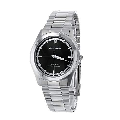 Pierre Cardin PC4819–Reloj de Pulsera de Hombre, Correa de Acero Inoxidable Color Plata
