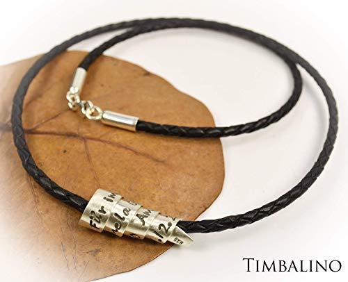 Namenskette, Silberspirale, Familienband mit Gravur Familie, Halskette Silber lang für Männer geeignet