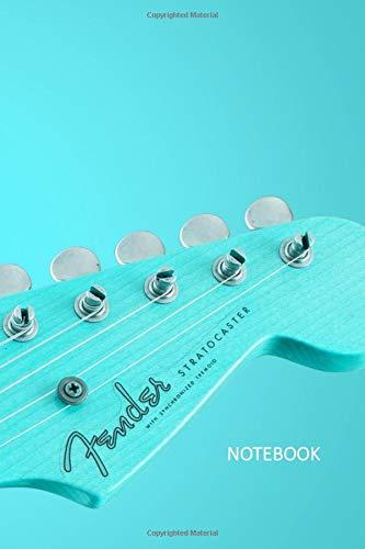 Notebook: Fender Stratocaster Guitar Retro Aqua Design :: 120-Page, 6
