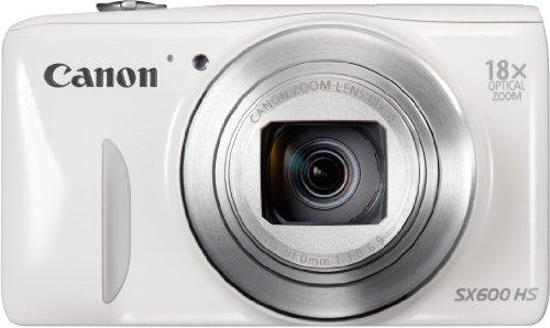 Canon PowerShot SX600 HS Digitalkamera (16 MP, 18-fach opt. Zoom, 7,5cm (3 Zoll) Display, Full HD, WLAN, NFC) weiß