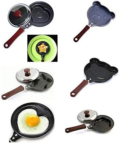 AIMG Mould Pans Cute Nonstick Egg Cooking Tools Mini Kitchen Accessoories Breakfast Egg Frying Pans Cute Shaped,B D