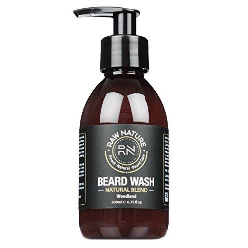 Rawnaturetm Beard Wash–shampoo for Men–98% Naturally Derived–Finest Premium oil Blend for Best Healthy Growth–condizionata e nutriente da barba e pelle–XL 200ml–regalo perfetto (Salute e Bellezza)