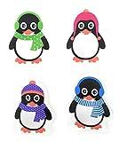 MC-Trend Juego de 4 calentadores de bolsillo con diseño de pingüinos para calentar las manos y los...