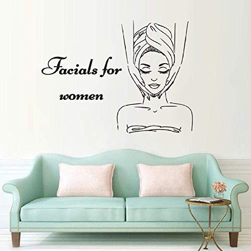 Skin Care Center Wall Decal Facials for Women Wall Stickers Spa Beauty Salon Decor Body Massage Gilrs Art Sticker 57X43Cm