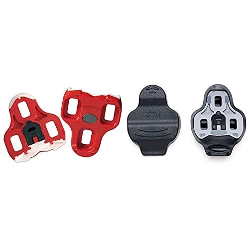 LOOK Tacchette KEO, Rosso, 9 & 3020104 - Protezione Piastra Pedale Keo Cover, Coppia, Colore: Nero