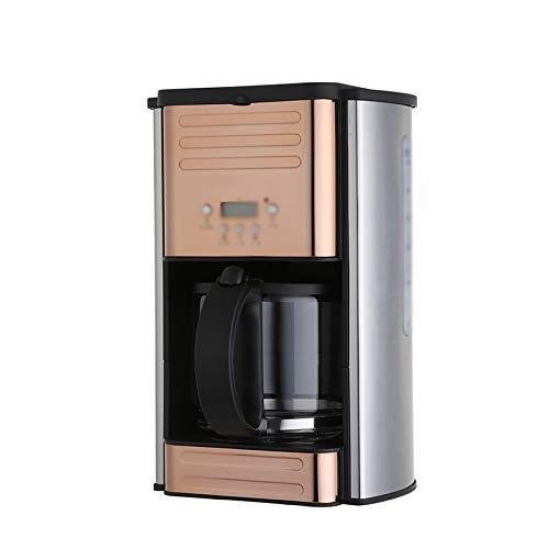 ekspres do kawy ekspres do kawy, przelewowy ekspres do kawy, domowe biuro, mały ekspres do kawy, przelewowy ekspres do kawy, 264mm × 216mm × 328mm, różowe złoto (Kolor : Złoty)