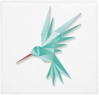 DIYthinker Planta Pet Square Alfombra de su casa Puerta de la Cocina 80cm Regalo Modelo geométrico Abstracto pájaro de Ori...