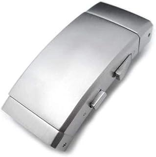 Chiusura con cinturino dell'orologio Cinturino 18mm, 20mm o 22mm Acciaio inossidabile 316L Muta Cricchetto Pulsante fibbia...