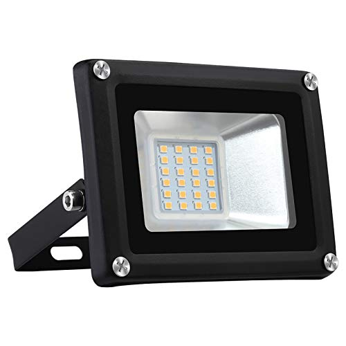 MTSBW Outdoor 20W LED Flood Light, IP66 Waterproof Flood Light, 3000K White Flood Light for Outdoor, Courtyard, Garage, Playground And Balcony [A-Level Energy + +]