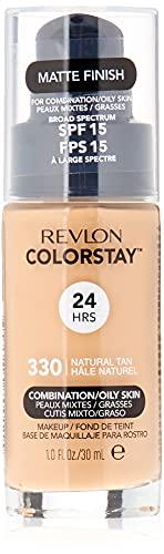Revlon ColorStay Base de Maquillaje piel mixta/grasa FPS15 30ml, #330 Natural Tan
