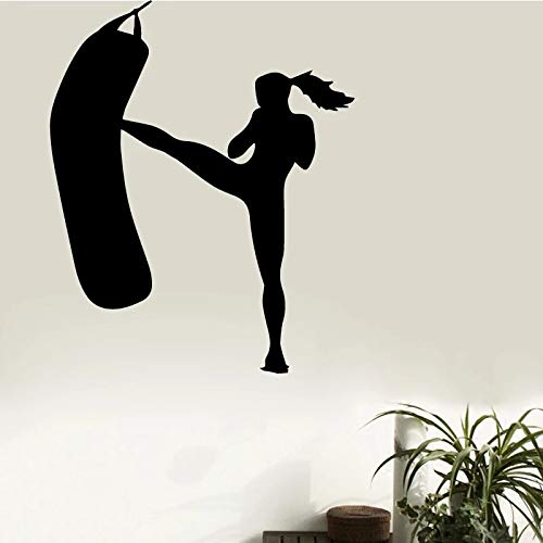 Deportes gimnasio damas deportes fitness vinilo pared interior diseño creativo pegatinas de pared