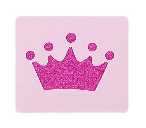 Princess Crown Face Painting Stencil 7cm x 6cm 190micron Washable Reusable Mylar