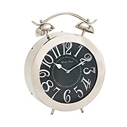 Plutus Brands Bold and Bubbly Stainless Steel Table Clock