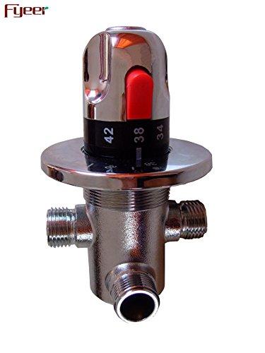 Lpophy badkamer wastafel mixer kranen kraan bad waterval koud en warm water kraan voor wasruimte badkamer en keuken zonne-energie thermostaat klep koper